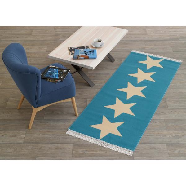 Hanse Home Collection koberce Kusový koberec Fringe 102346, 80x200 cm% Modrá - Vrácení do 1 roku ZDARMA vč. dopravy