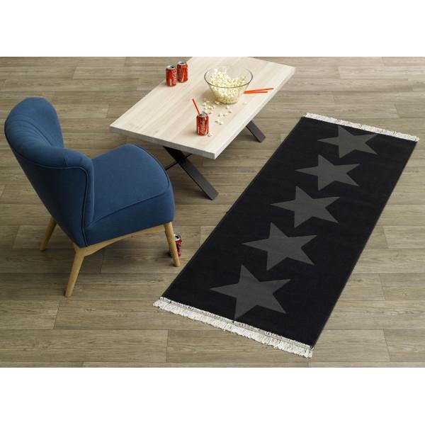 Hanse Home Collection koberce Kusový koberec Fringe 102344, 80x200 cm% Černá - Vrácení do 1 roku ZDARMA vč. dopravy