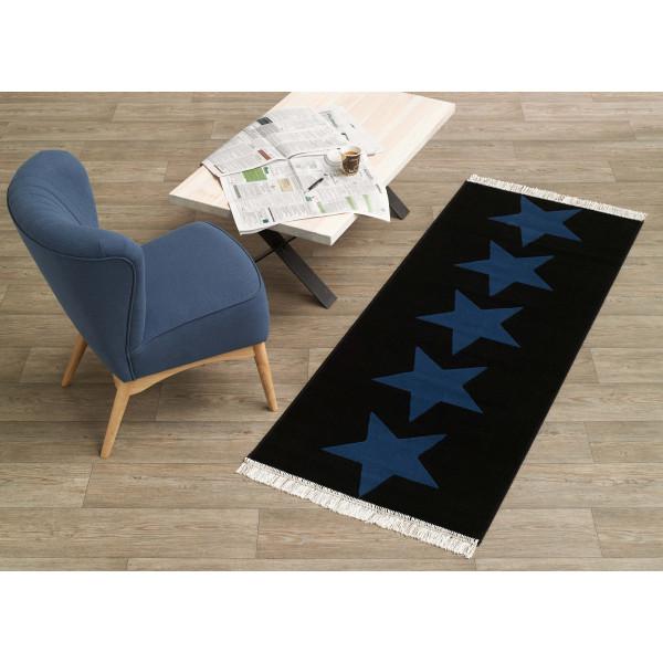 Hanse Home Collection koberce Kusový koberec Fringe 102343, 80x200 cm% Černá - Vrácení do 1 roku ZDARMA vč. dopravy