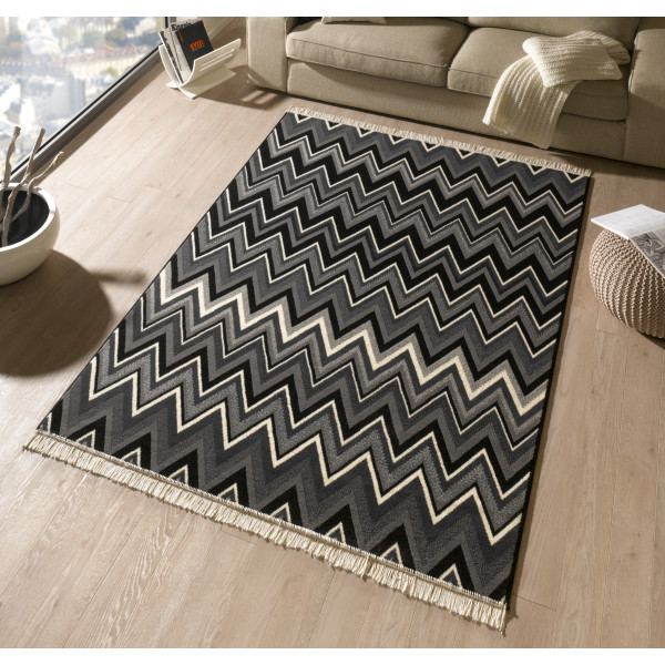 Hanse Home Collection koberce Kusový koberec Fringe 102357, 80x200 cm% Šedá - Vrácení do 1 roku ZDARMA vč. dopravy