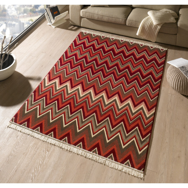 Hanse Home Collection koberce Kusový koberec Fringe 102356, 80x200 cm% Červená - Vrácení do 1 roku ZDARMA vč. dopravy