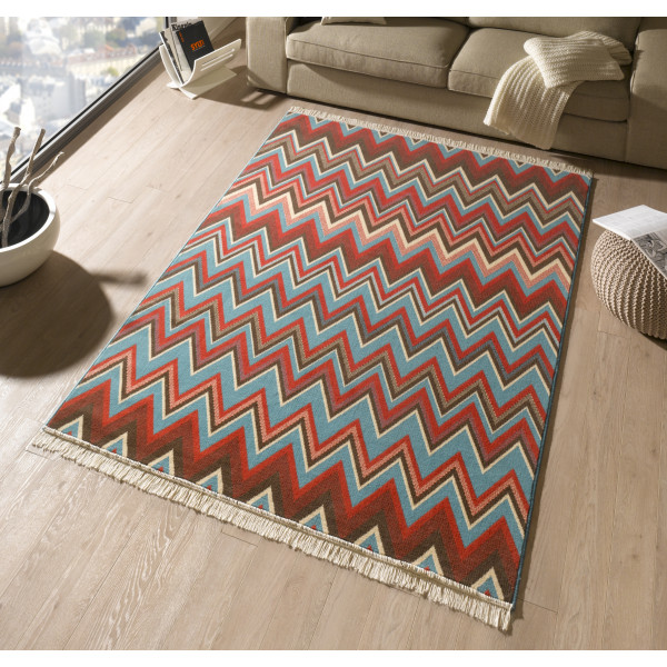 Hanse Home Collection koberce Kusový koberec Fringe 102355, kusových koberců 80x150 cm% Červená - Vrácení do 1 roku ZDARMA vč. dopravy