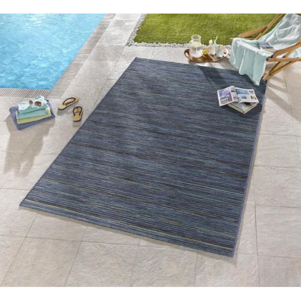 Bougari - Hanse Home koberce Venkovní kusový koberec Lotus Blau Meliert, kusových koberců 80x240 cm% Modrá - Vrácení do 1 roku ZDARMA vč. dopravy