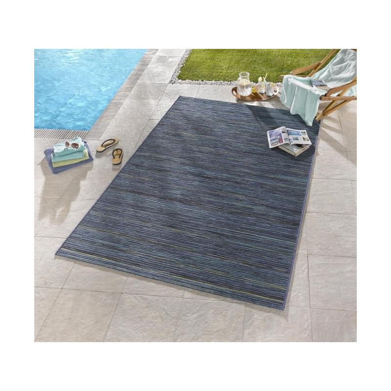 Venkovní kusový koberec Lotus Blau Meliert 102444
