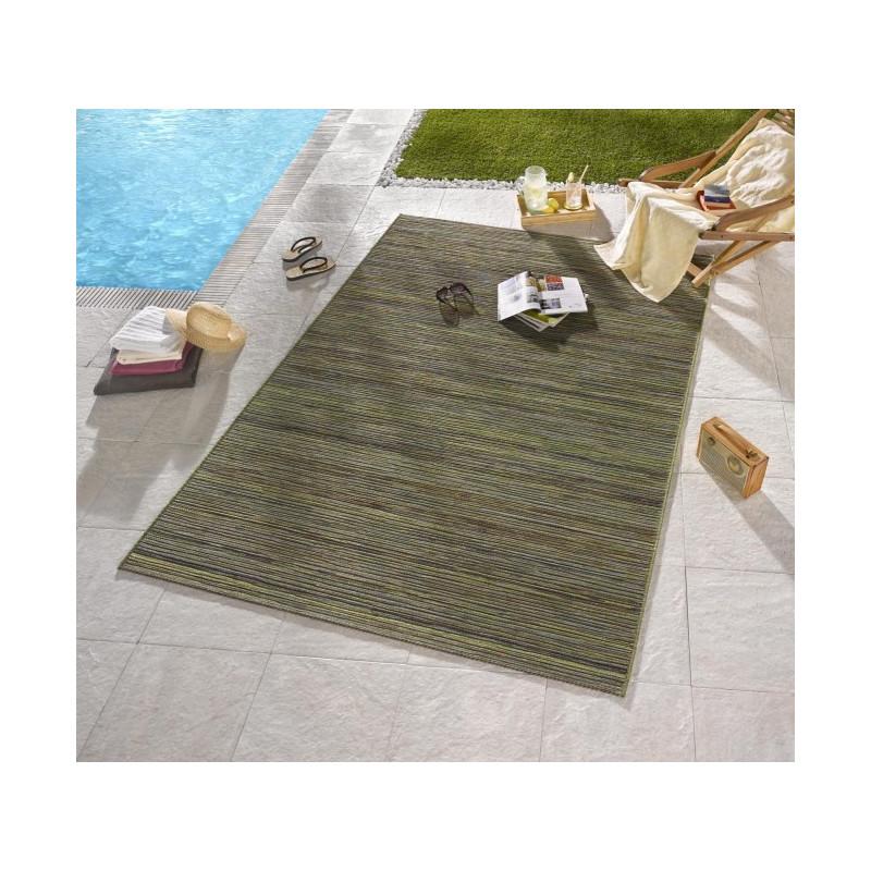 Venkovní kusový koberec Lotus Grün Meliert 102442