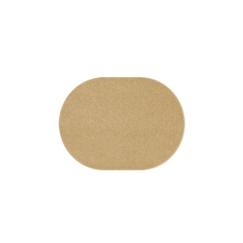 Kusový béžový koberec Eton ovál