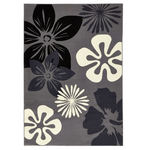 Hanse Home Collection koberce Kusový koberec GLORIA Flora Gray, kusových koberců 80x150 cm% Šedá - Vrácení do 1 roku ZDARMA vč. dopravy