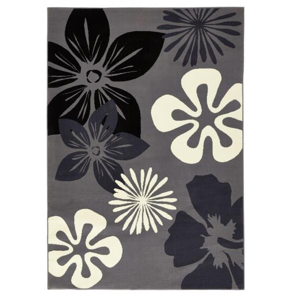 Hanse Home Collection koberce Kusový koberec GLORIA Flora Gray, koberců 80x150 cm Sleva 8% Šedá - Vrácení do 1 roku ZDARMA