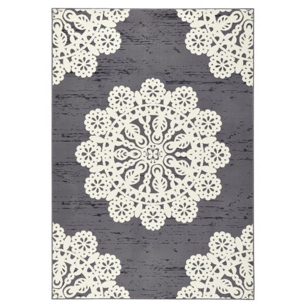 Kusový koberec GLORIA Lace Grau Creme