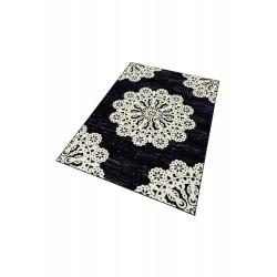 Kusový koberec GLORIA  Lace Schwarz Cremeweiss