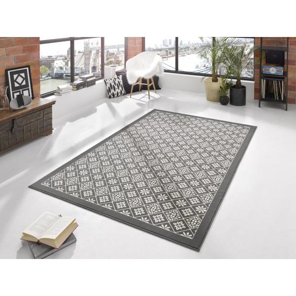 Kusový koberec GLORIA Tile Grau Creme