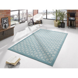 Kusový koberec GLORIA Tile Blau Creme