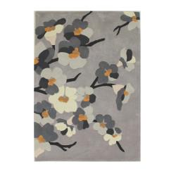 Ručně všívaný kusový koberec Infinite Blossom Grey/Ochre