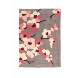 Ručně všívaný kusový koberec Infinite Blossom Charcoal/Pink