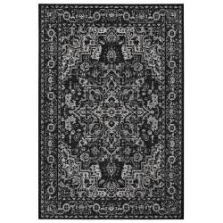 Kusový orientální koberec Flatweave 104807 Black/Cream