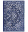 Kusový orientální koberec Flatweave 104808 Blue/Cream