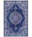 Kusový orientální koberec Flatweave 104817 Blue/Cream