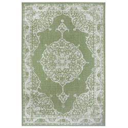 Kusový orientální koberec Flatweave 104820 Green/Cream