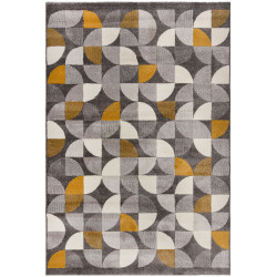 Kusový koberec Cadiz Alcazar geometric Grey/Ochre