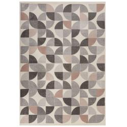 Kusový koberec Cadiz Alcazar geometric Grey/Pink