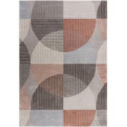 Kusový koberec Cadiz Centro Cirkles Grey/Pink