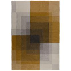 Kusový koberec Cadiz Plaza Abstract Grey/Ochre