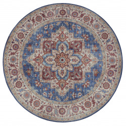 Kusový koberec Asmar 104001 Jeans/Blue kruh