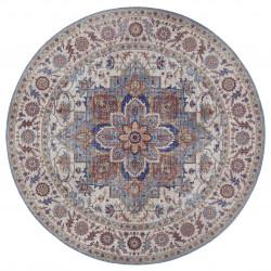 Kusový koberec Asmar 104002 Cyan/Blue kruh