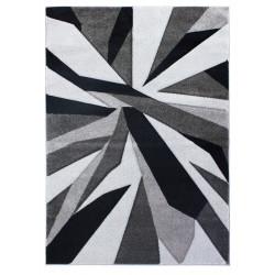 Kusový koberec Hand Carved Shatter Black/Grey