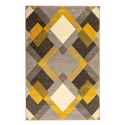Kusový koberec Hand Carved Nimbus Grey/Ochre