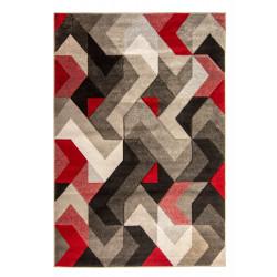 Kusový koberec Hand Carved Aurora Grey/Red