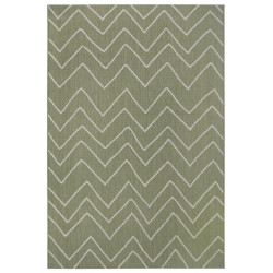 Kusový koberec Flatweave 104843 Green/Cream