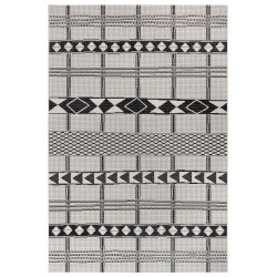 Kusový koberec Flatweave 104852 Black/Cream