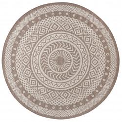 Kusový koberec Flatweave 104854 Light-brown/Cream
