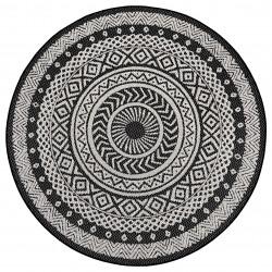 Kusový koberec Flatweave 104855 Black/Cream