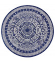 Kusový koberec Flatweave 104856 Blue/Cream