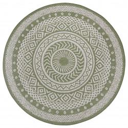 Kusový koberec Flatweave 104858 Green/Cream
