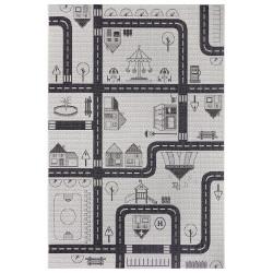Dětský kusový koberec Flatweave Kids Rugs 104875 Cream/Black