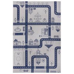 Dětský kusový koberec Flatweave Kids Rugs 104876 Cream/Blue
