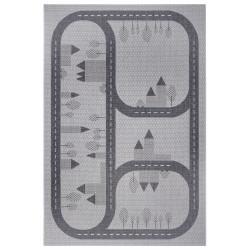 Dětský kusový koberec Flatweave Kids Rugs 104878 Grey