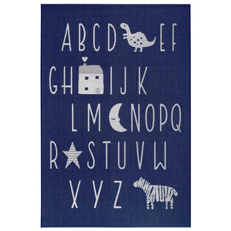 Dětský kusový koberec Flatweave 104886 Blue/Cream