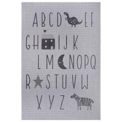 Dětský kusový koberec Flatweave 104887 Silver/Grey
