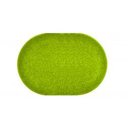 Kusový zelený koberec Eton ovál