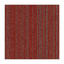 Kobercový čtverec Coral Lines 60380-50 červeno-šedý
