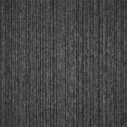 Kobercový čtverec Coral Lines 60345-50 šedo-černý