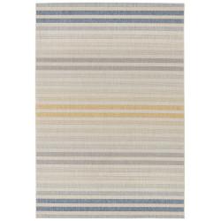 Kusový koberec Beach 103849 Blue/Gold/Silvergrey