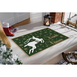Protiskluzová rohožka GDmats Veselé Vánoce - Vánoční sob