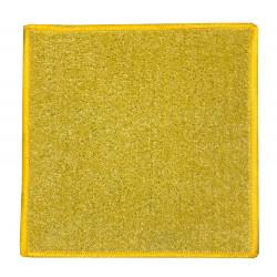 Kusový koberec Eton 2019-502 žlutý čtverec