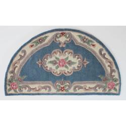 Ručně všívaný kusový koberec Lotus premium Blue půlkruh