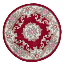 Ručně všívaný kusový koberec Lotus premium Red kruh